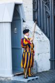 Pontificial Swiss Guard in Rome, Italy — Stock Photo