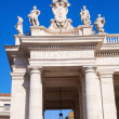Detail of the colonnades of the St Peters Square in Vatican City — Stock Photo #56732653