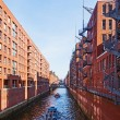 Brick buildings in the warehouse district of Hamburg, Germany — Stock Photo #56753197