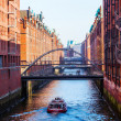 Brick buildings in the warehouse district of Hamburg, Germany — Stock Photo #56755333