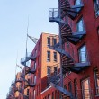 Brick buildings in the warehouse district of Hamburg, Germany — Stock Photo #56756711