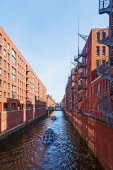 Brick buildings in the warehouse district of Hamburg, Germany — Stock Photo