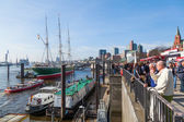 St Pauli Piers in Hamburg, Germany — Stock Photo