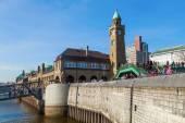 St Pauli Piers in Hamburg, Germany — Stock Photo