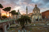 At the Imperial Fora in Rome, Italy — Stock Photo