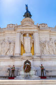 Memorial Vittoriano with guard in Rome, Italy — Stock Photo