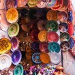 Ceramic shop in the souks of Marrakech, Morocco — Stock Photo #56894343