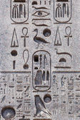Hieroglyphics on an egyptian obelisque in Rome, Italy — Stock Photo