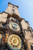 Historical City Hall Tower with a famous astronomical clock in Prague, Czechia — Stockfoto
