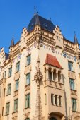 Typical old buildings in Prague, Czechia — Foto Stock