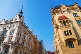 Typical old buildings in Prague, Czechia — Stockfoto