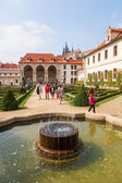 In the park of the Wallenstein Palace in Prague, Czechia — Foto de Stock