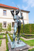 In the park of the Wallenstein Palace in Prague, Czechia — Stockfoto