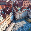 Aerial view of the old town square with historical buildings in Prague, Czechia — Stock Photo #57939759