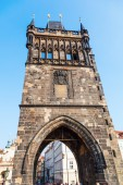 Bridge tower of the famous Charles Bridge in Prague, Czechia — Stockfoto