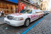 Stretch limousine from cabaret - strip club in Prague, Czechia — Stok fotoğraf
