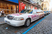 Stretch limousine from cabaret - strip club in Prague, Czechia — Foto Stock