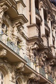 Facade of a historical building in Prague, Czechia — Stockfoto