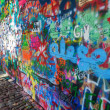 Постер, плакат: John Lennon Wall in Prague Czechia