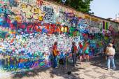 John Lennon Wall in Prague, Czechia — Stok fotoğraf