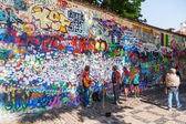 John Lennon Wall in Prague, Czechia — Stockfoto