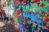 John Lennon Wall in Prague, Czechia — Foto Stock