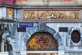 Detail of a historical building in Amsterdam, Netherlands — Stock Photo