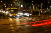 Night traffic in the city — Stock Photo