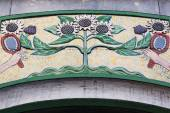 Architectural Art Nouveau detail in Amsterdam, Netherlands — Stock Photo