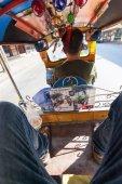 Inside view of a traditional tuk tuk in Bangkok, Thailand — Stock Photo