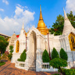Outbuilding of Buddhist temple Wat Benchamabophit or The Marble Temple in Bangkok, Thailand — Stock Photo #62406225