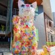 Постер, плакат: Cat statue in front of the Hello Kitty house at the Siam Square in Bangkok Thailand