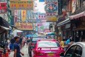 Street scene in Chinatown, Bangkok, Thailand — Stock Photo