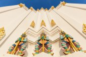 Detail of the Buddhist temple Wat Phichaiyat in Bangkok, Thailand — Stock Photo