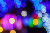 Bokeh lights at night — Stock Photo