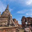 Wat Phra Si Sanphet, ruin of a former royal temple in Ayutthaya, Thailand — Stock Photo #62739717