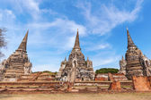 Wat Phra Si Sanphet, ruin of a former royal temple in Ayutthaya, Thailand — Стоковое фото