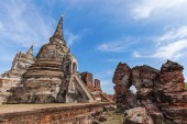 Wat Phra Si Sanphet, ruin of a former royal temple in Ayutthaya, Thailand — Foto Stock