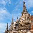Wat Phra Si Sanphet, ruin of a former royal temple in Ayutthaya, Thailand — Stock Photo #62740431