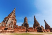 Wat Phra Si Sanphet, ruin of a former royal temple in Ayutthaya, Thailand — Photo