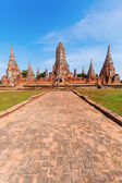 Wat Phra Si Sanphet, ruin of a former royal temple in Ayutthaya, Thailand — Stock Photo