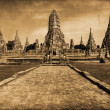 Vintage style picture of the Wat Phra Si Sanphet, the ruin of the former royal temple in Ayutthaya, Thailand — Stock Photo #62786129