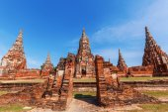 Wat Phra Si Sanphet, ruin of a former royal temple in Ayutthaya, Thailand — Foto de Stock