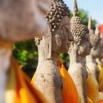 Buddha sculptures in the Buddhist Temple Wat Yai Chai Mongkon in the historical city Ayutthaya, Thailand — Stock Photo #62826077