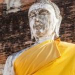 Buddha sculptures in the Buddhist Temple Wat Yai Chai Mongkon in the historical city Ayutthaya, Thailand — Stock Photo #62829097