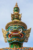 Demon Guardian Sculpture at a temple in Bangkok, Thailand — Stock Photo