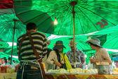 Typical market in Bangkok, Thailand — Stock Photo