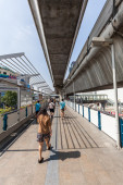 Skywalk in Silom district, Bangkok, Thailand — Stock Photo