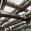 Elevated path structures of the skytrain in Bangkok, Thailand — Stock Photo #62910419