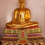 Golden Buddha statue at Wat Pho in Bangkok, Thailand — Stock Photo #62973955